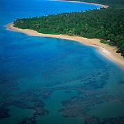 Aerial of Luquillo beach.Puerto Rico