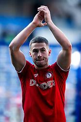 Tommy Rowe of Bristol City celebrates beating Cardiff City - Mandatory by-line: Robbie Stephenson/JMP - 10/11/2019 -  FOOTBALL - Cardiff City Stadium - Cardiff, Wales -  Cardiff City v Bristol City - Sky Bet Championship