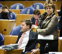 Nederland. Den Haag, 18 september 2008.<br /> Algemene beschouwingen in de tweede kamer.<br /> Rita Verdonk en Mark Rutte<br /> Foto Martijn Beekman<br /> NIET VOOR PUBLIKATIE IN LANDELIJKE DAGBLADEN.