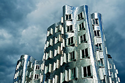 The Neuer Zollhof building at the Medienhafen, Düsseldorf, Germany Architect Frank Gehry