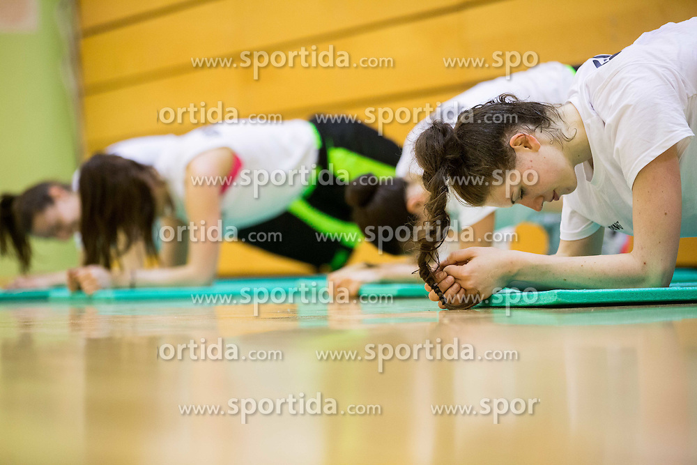 Eva Lisec during practice session of Slovenian Women Basketball Team, on May 14, 2014 in Arena Vitranc, Kranjska Gora, Slovenia. Photo by Vid Ponikvar / Sportida