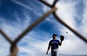 Texas Rangers starting pitcher Yu Darvish (11) lifts his glove to catch a pass as he throws a few pitches during a spring training workout at the team's training facility on Friday, February 17, 2017 in Surprise, Arizona. (Ashley Landis/The Dallas Morning News)