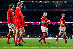 Wales replacement Paul James looks dejected after South Africa win the match 23-19 - Mandatory byline: Rogan Thomson/JMP - 07966 386802 - 17/10/2015 - RUGBY UNION - Twickenham Stadium - London, England - South Africa v Wales - Rugby World Cup 2015 Quarter Finals.