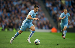 MANCHESTER, ENGLAND - Monday, April 30, 2012: Manchester City's Samir Nasri in action against Manchester United during the Premiership match at the City of Manchester Stadium. (Pic by Chris Brunskill/Propaganda)