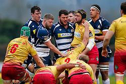 Bristol Rugby Hooker Chris Brooker (capt) and Prop Ellis Genge - Mandatory byline: Rogan Thomson/JMP - 17/01/2016 - RUGBY UNION - Clifton Rugby Club - Bristol, England - Scarlets Premiership Select XV v Bristol Rugby - B&I Cup.