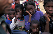 IDP camp on the outskits of Luanda, Angola.