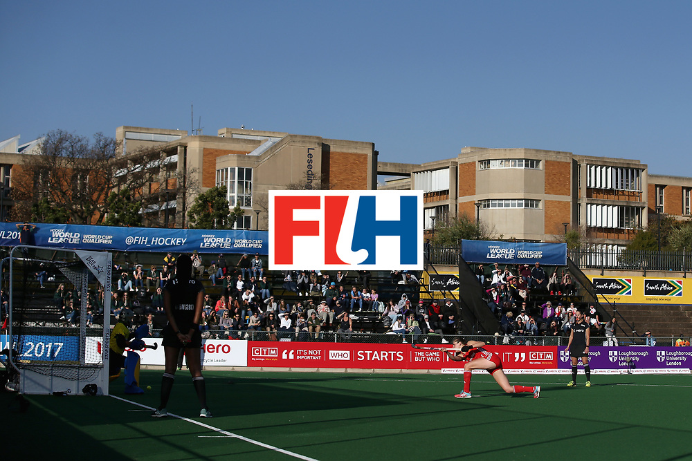 JOHANNESBURG, SOUTH AFRICA - JULY 18: General view as Giselle Ansley of England scores her sides first goal during the Quarter Final match between England and India during the FIH Hockey World League - Women's Semi Finals on July 18, 2017 in Johannesburg, South Africa.  (Photo by Jan Kruger/Getty Images for FIH)
