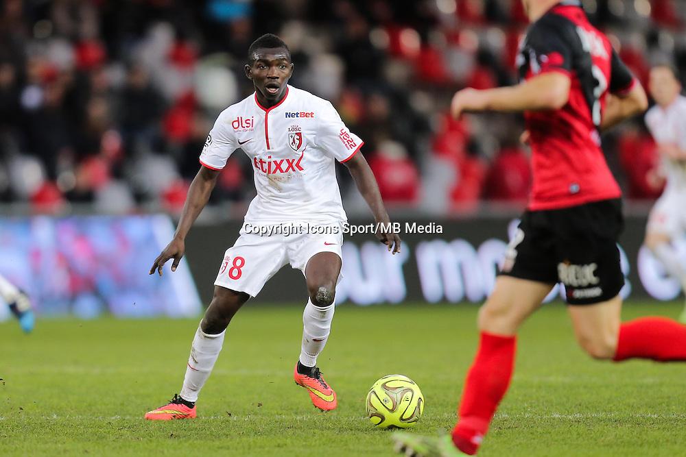 Adama TRAORE  - 08.03.2015 - Guingamp / Lille - 28eme journee de Ligue 1 <br /> Photo : Vincent Michel / Icon Sport