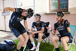 Pre-race dance with Macey Stewart (AUS). Emilia Fahlin (SWE) and Julie Leth (DEN) at Lotto Thuringen Ladies Tour 2018 - Stage 5, a 102.9 km road race starting and finishing in , Germany on June 1, 2018. Photo by Sean Robinson/velofocus.com