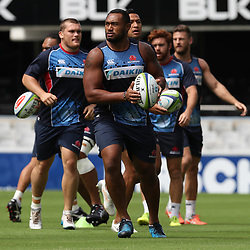 Sekope Kepu of the NSW Waratahs during the NSW Waratahs Cap Run at  Growthpoint Kings Park Durban , South Africa. March 9th 2017(Photo by Steve Haag)<br /> <br /> images for social media must have consent from Steve Haag