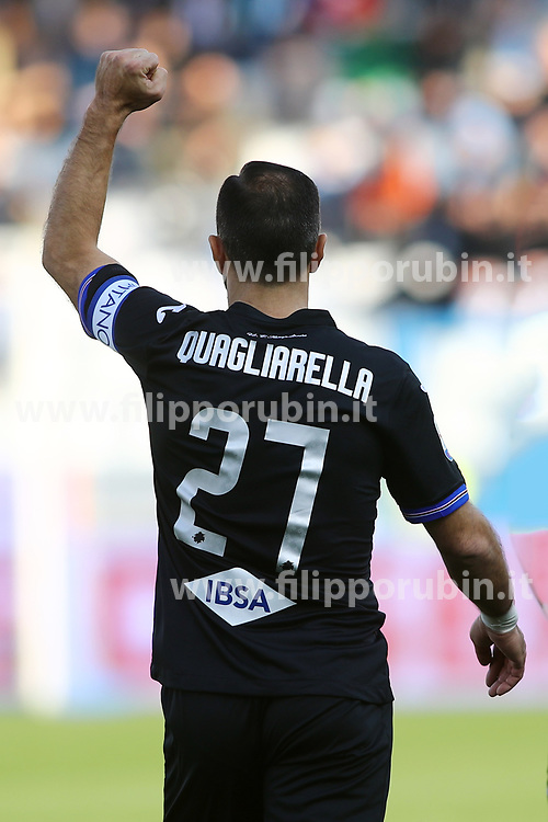 "Foto LaPresse/Filippo Rubin<br /> 03/03/2019 Ferrara (Italia)<br /> Sport Calcio<br /> Spal - Sampdoria - Campionato di calcio Serie A 2018/2019 - Stadio ""Paolo Mazza""<br /> Nella foto: FABIO QUAGLIARELLA (SAMPDORIA)<br /> <br /> Photo LaPresse/Filippo Rubin<br /> March 03, 2019 Ferrara (Italy)<br /> Sport Soccer<br /> Spal vs Sampdoria - Italian Football Championship League A 2018/2019 - ""Paolo Mazza"" Stadium <br /> In the pic: FABIO QUAGLIARELLA (SAMPDORIA)"