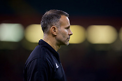CARDIFF, WALES - Thursday, October 11, 2018: Wales' manager Ryan Giggs during the International Friendly match between Wales and Spain at the Principality Stadium. (Pic by David Rawcliffe/Propaganda)