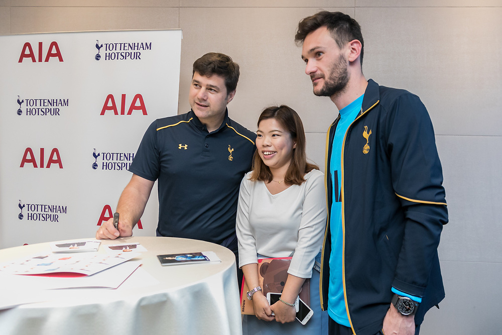 Tottenham Hotspur F.C attended a Healthy Living Seminar on 24 May 2017 at AIA tower Central, HONG KONG.<br /> Photo by MozImages.