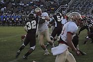 Lafayette High's Dylan Gossett (18) blocks vs. Greenwood in Greenwood, Miss. on Friday, August 26, 2011. Lafayette won 42-0.