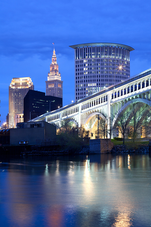 Downtown skyline, Cleveland, Ohio, USA