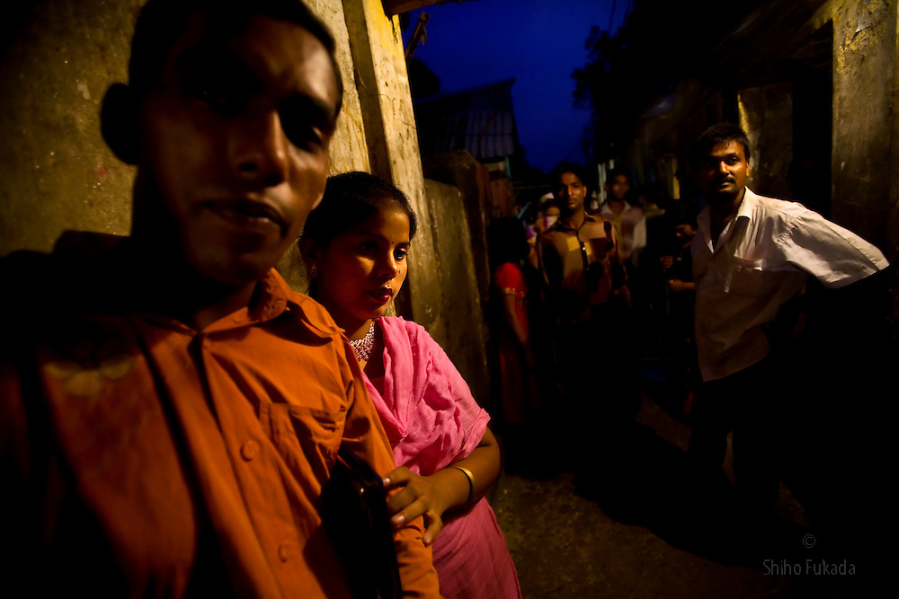 A young sex worker is seen at brothel, June 17, 2007 in Tangail, Bangladesh. <br /> <br /> The majority of the 20,000 to 30,000 female sex workers in Bangladesh are victims of trafficking. <br /> Once they enter the brothel, usually before the age of 12, they are generally in for life because of social stigma and poverty.
