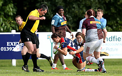 Sarah Hunter of Bristol Ladies scores a try - Mandatory by-line: Robbie Stephenson/JMP - 18/09/2016 - RUGBY - Cleve RFC - Bristol, England - Bristol Ladies Rugby v Aylesford Bulls Ladies - RFU Women's Premiership