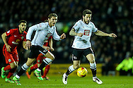 Jacob Butterfield of Derby County (right)  breaks during the Sky Bet Championship match at the iPro Stadium, Derby<br /> Picture by Andy Kearns/Focus Images Ltd 0781 864 4264<br /> 24/02/2016
