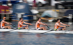 © Licensed to London News Pictures. 04/07/2018. Henley-on-Thames, UK. Day one of the Henley Royal Regatta, set on the River Thames by the town of Henley-on-Thames in England. Established in 1839, the five day international rowing event, raced over a course of 2,112 meters (1 mile 550 yards), is considered an important part of the English social season. Photo credit: Ben Cawthra/LNP