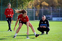 NEWPORT, WALES - Tuesday, November 6, 2018: Wales' goalkeeper Olivia Clark during a training session at Dragon Park ahead of two games against Portugal. (Pic by Paul Greenwood/Propaganda)