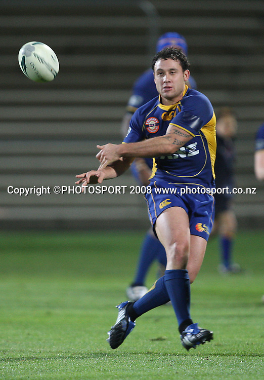 Aaron Bancroft.<br /> Air NZ Cup, Otago v Hawkes Bay, Carisbrook, Dunedin, Friday 29 August 2008. Photo: Rob Jefferies/PHOTOSPORT