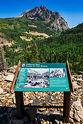 Interpretive sign on the Galloping Goose Trail, Uncompahgre National Forest, Colorado USA