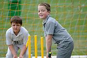 Cricket Fan Oscar Kurters at the National Bank's Cricket Super Camp , University oval, Dunedin, New Zealand. Thursday 2 February 2012 . Photo: Richard Hood photosport.co.nz