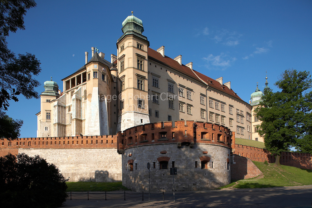 Eastern Europe Poland Malopolska Krakow Royal Wawel Castle and  Cathedral