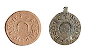 A Medieval lead seal. 13Th Century CE