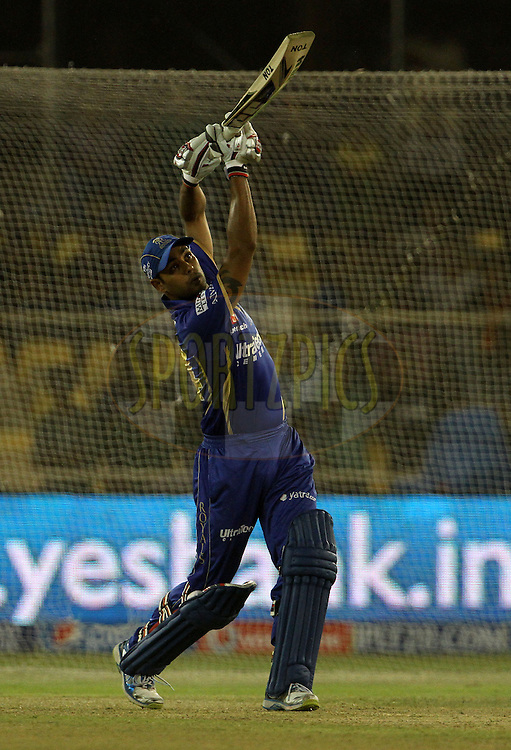 Stuart Binny of the Rajasthan Royals  plays a shot during the Yes Bank maximum sixes after the match 25 of the Pepsi Indian Premier League Season 2014 between the Rajasthan Royals and the Kolkata Knight Riders held at the Sardar Patel Stadium, Ahmedabad, India on the 5th May  2014<br /> <br /> Photo by Vipin Pawar / IPL / SPORTZPICS      <br /> <br /> <br /> <br /> Image use subject to terms and conditions which can be found here:  http://sportzpics.photoshelter.com/gallery/Pepsi-IPL-Image-terms-and-conditions/G00004VW1IVJ.gB0/C0000TScjhBM6ikg