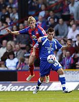 Photo: Olly Greenwood.<br />Crystal Palace v Cardiff City. Coca Cola Championship. 14/10/2006. Crystal Palace's Stuart Green and Cardiff's Joe Ledley