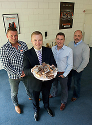 Pictured is, from left, The Protein Works co-founder Nick Smith, Yorkshire Bank's relationship manager Marc De-Brabander, and The Protein Works co-founders Mark Coxhead and Karl Jacobie.<br /> Yorkshire Bank have supported The Protein Works with the development of a bakery at their site in Runcorn, which has allowed them to expand their product range.<br /> <br /> Yorkshire Bank - The Protein Works<br /> <br /> June 12, 2015