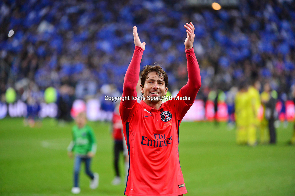 VICTOIRE PSG / Sherrer MAXWELL    - 11.04.2015 -  Bastia / PSG - Finale de la Coupe de la Ligue 2015<br />Photo : Dave Winter / Icon Sport