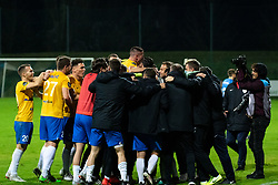 Players of Koper celebrating the win after football match between NK Nafta and FC Koper in 19th Round of 2.SNL 2019/20, on November 23, 2019 in Športni park Lendava, Lendava, Slovenia. Photo by Blaž Weindorfer / Sportida