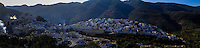Morocco. Panorama. Moulay Idriss is a pilgrimage site for Muslims.