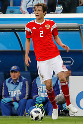June 19, 2018 - Saint Petersburg, Russia - Mario Fernandes of Russia national team during the 2018 FIFA World Cup Russia group A match between Russia and Egypt on June 19, 2018 at Saint Petersburg Stadium in Saint Petersburg, Russia. (Credit Image: © Mike Kireev/NurPhoto via ZUMA Press)