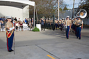 Flag dedication ceremony at Frischhertz Electric Co., Inc. on November 2, 2016