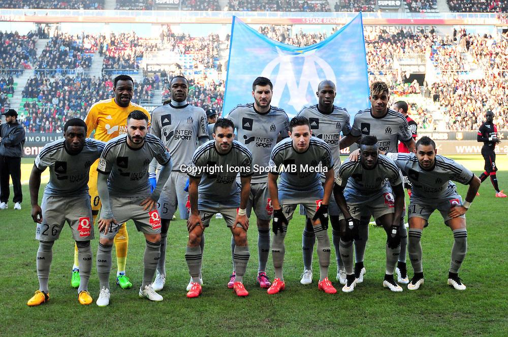 Equipe Marseille - 07.02.2015 - Rennes / Marseille - 24eme journee de Ligue 1<br /> Photo : Philippe Le Brech / Icon Sport