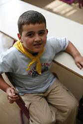 A boy in a school.   (Photo by: Vid Ponikvar / Sportal Images).