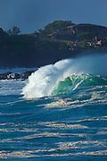 Waimea Bay, North Shore, Oahu, Hawaii Shorebreak, Waimea Bay, North Shore, Oahu, Hawaii