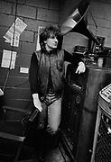 U2 at a Jukebox store in Atlanta - USA tour photosessions December 1981