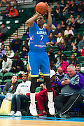 Ricky Ledo (7) of the Texas Legends shoots a three-pointer against the Los Angeles D-Fenders on Friday, January 9, 2015 at the Dr. Pepper Arena in Frisco, Texas. (Cooper Neill/Special Contributor)