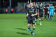 Forest Green Rovers Joseph Mills(23) at the end of the match during the EFL Sky Bet League 2 match between Morecambe and Forest Green Rovers at the Globe Arena, Morecambe, England on 22 October 2019.