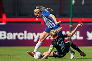 Kayleigh Green (Brighton) & Magdalena Eriksson (Capt)(Chelsea) during the FA Women's Super League match between Brighton and Hove Albion Women and Chelsea at The People's Pension Stadium, Crawley, England on 15 September 2019.