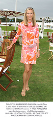 COUNTESS ALLESANDRO GUERRINI-MARALDI at a polo match in Berkshire on 25th July 2004.PXL 291
