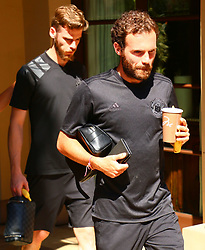 Spanish Midfielder Juan Mata spotted heading to Manchester United Team Practice in Los Angeles, California. 11 Jul 2017 Pictured: Juan Mata. Photo credit: KAT / MEGA TheMegaAgency.com +1 888 505 6342