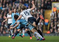Football - 2016 / 2017 Premier League - Tottenham Hotspur vs. Stoke City<br /> <br /> Eric Dier of Tottenham  runs into the back of Ramadan Sobhi of Stoke City at White Hart Lane.<br /> <br /> COLORSPORT/DANIEL BEARHAM