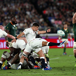 Ben Youngs of England during the Rugby World Cup Final match between South Africa Springboks and England Rugby World Cup Final at the International Stadium Yokohama  Japan.Saturday 02 November 2019. (Mandatory Byline - Fotosport/David Gibson)