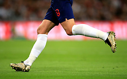 A detailed view of England's Harry Kane wearing golden boots during the UEFA Nations League, League A Group Four match at Wembley Stadium, London. PRESS ASSOCIATION Photo. Picture date: Saturday September 8, 2018. See PA story SOCCER England. Photo credit should read: Adam Davy/PA Wire. RESTRICTIONS: Use subject to FA restrictions. Editorial use only. Commercial use only with prior written consent of the FA. No editing except cropping.