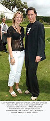 LADY ALEXANDRA GORDON-LENNOX and MR JACK SIMONDS, at a lunch in West Sussex on 27th June 2004.PWM 137